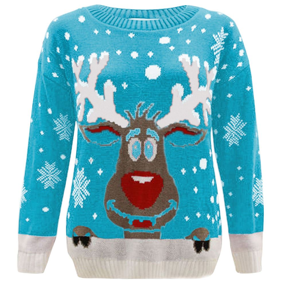 new kids girls boy reindeer print christmas jumper. Black Bedroom Furniture Sets. Home Design Ideas