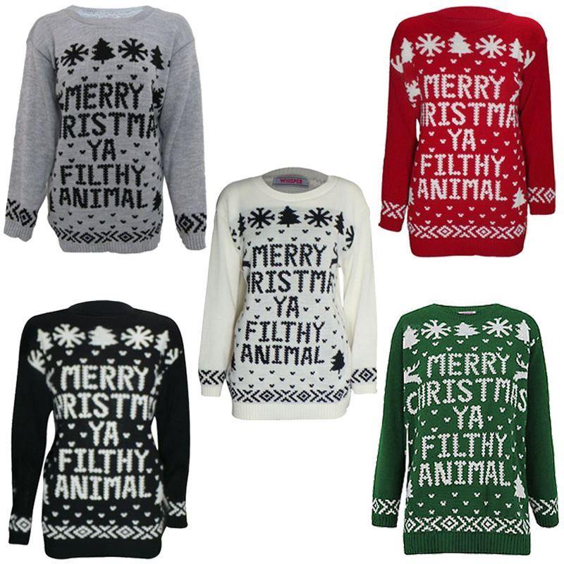MENS LADIES MERRY XMAS CHRISTMAS U FILTHY ANIMAL FAIRISLE WINTER