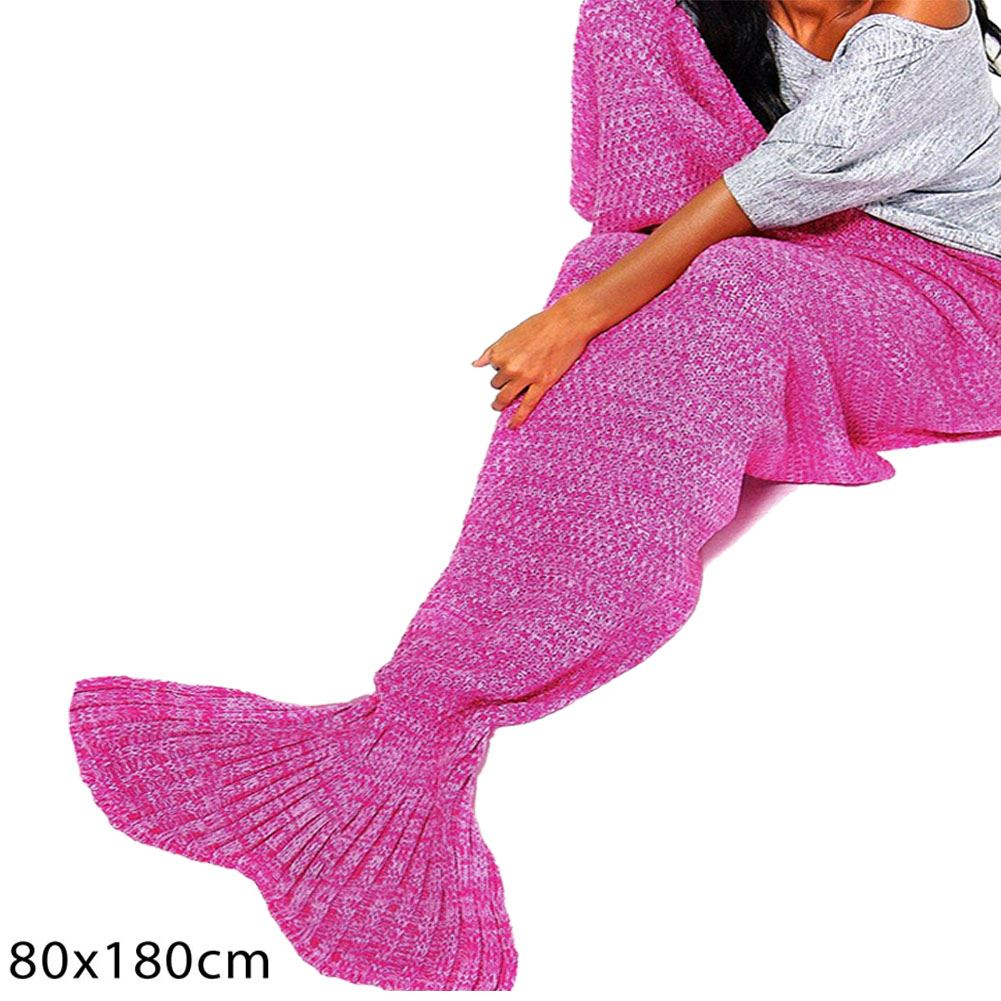 New Adults Mermaid Fishtail Wrap Quilt Rug Crocheted ...