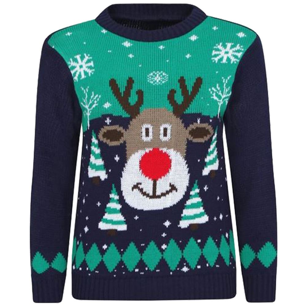 Christmas Jumper Party: New Kids Girls Boys Novelty Christmas Santa Party Jumpers