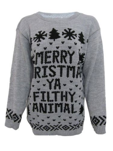 New Womens Ladies Mens Xmas Merry Christmas Ya Filthy Animal Home
