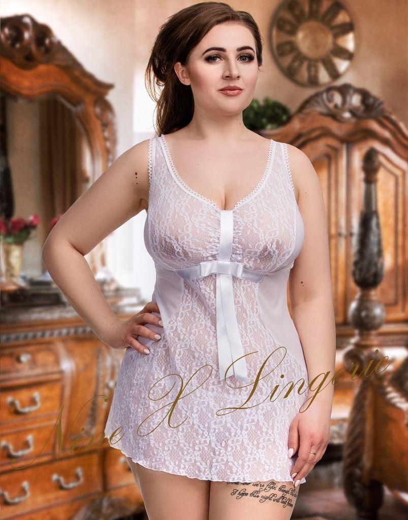 nine x sexy lace & mesh plus size babydoll m-8xl 10-28