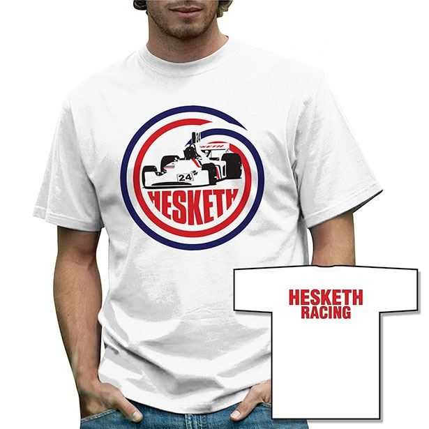 retro formula 1 hesketh 308 t shirt classic historic grand