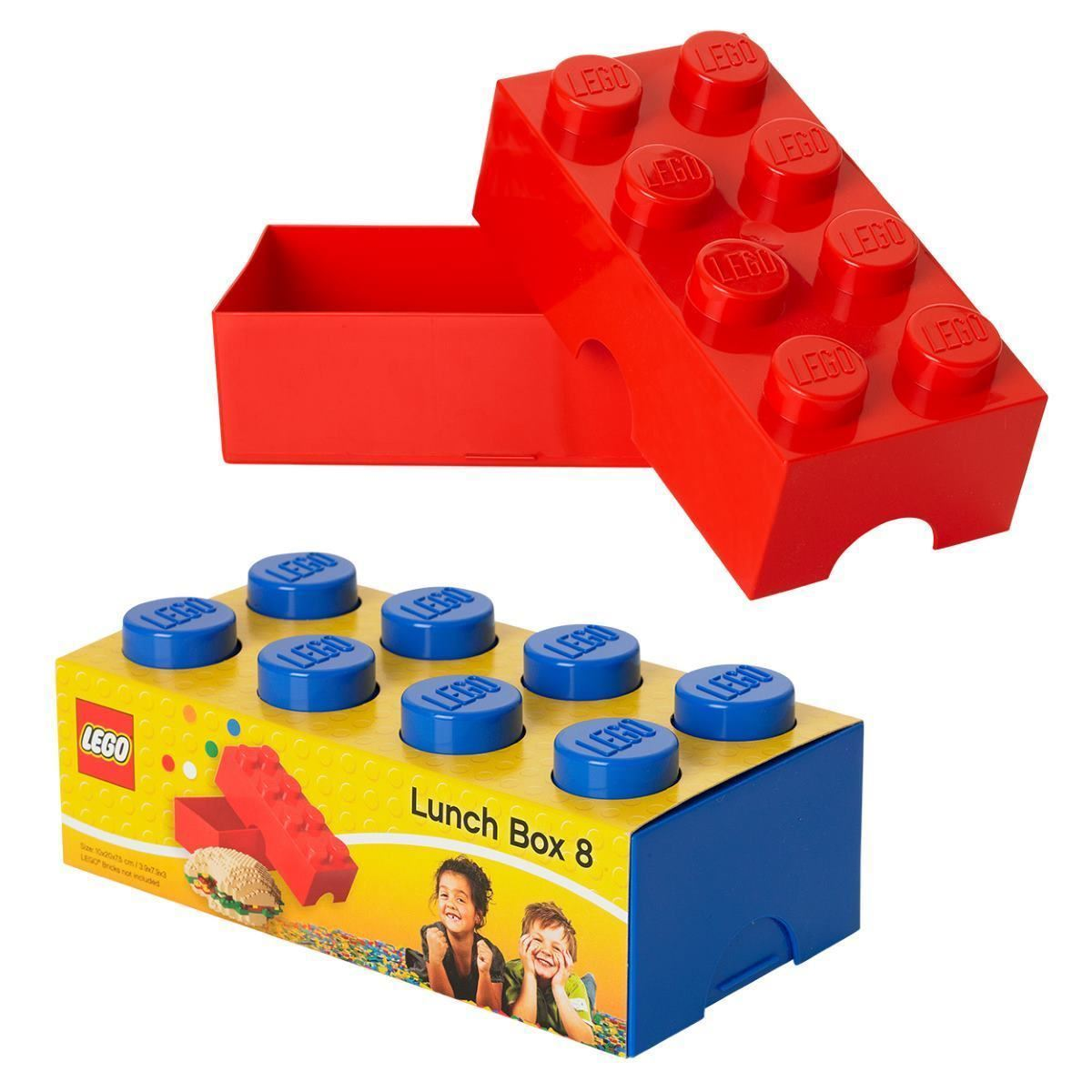 Lego Lunch Box Blue Red School Lunch Sandwich Kids Snacks | eBay