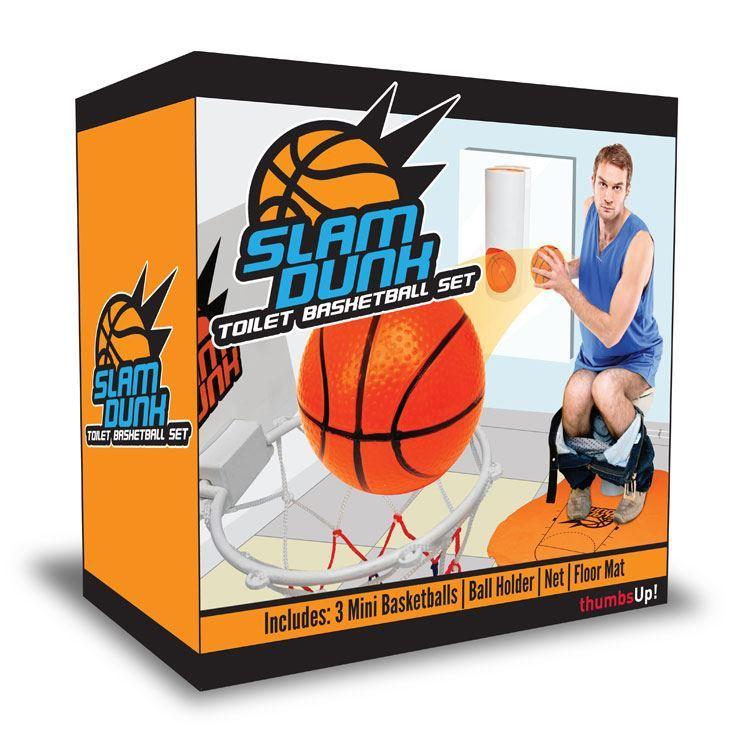 Baño Inodoro En Inglés:Slam Dunk Inodoro Baloncesto Juego Baño Artículo Para Hombre Deporte