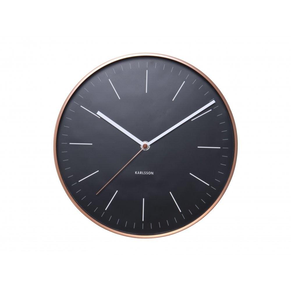 horloge murale minimal noir cuivre tui designer uniques. Black Bedroom Furniture Sets. Home Design Ideas