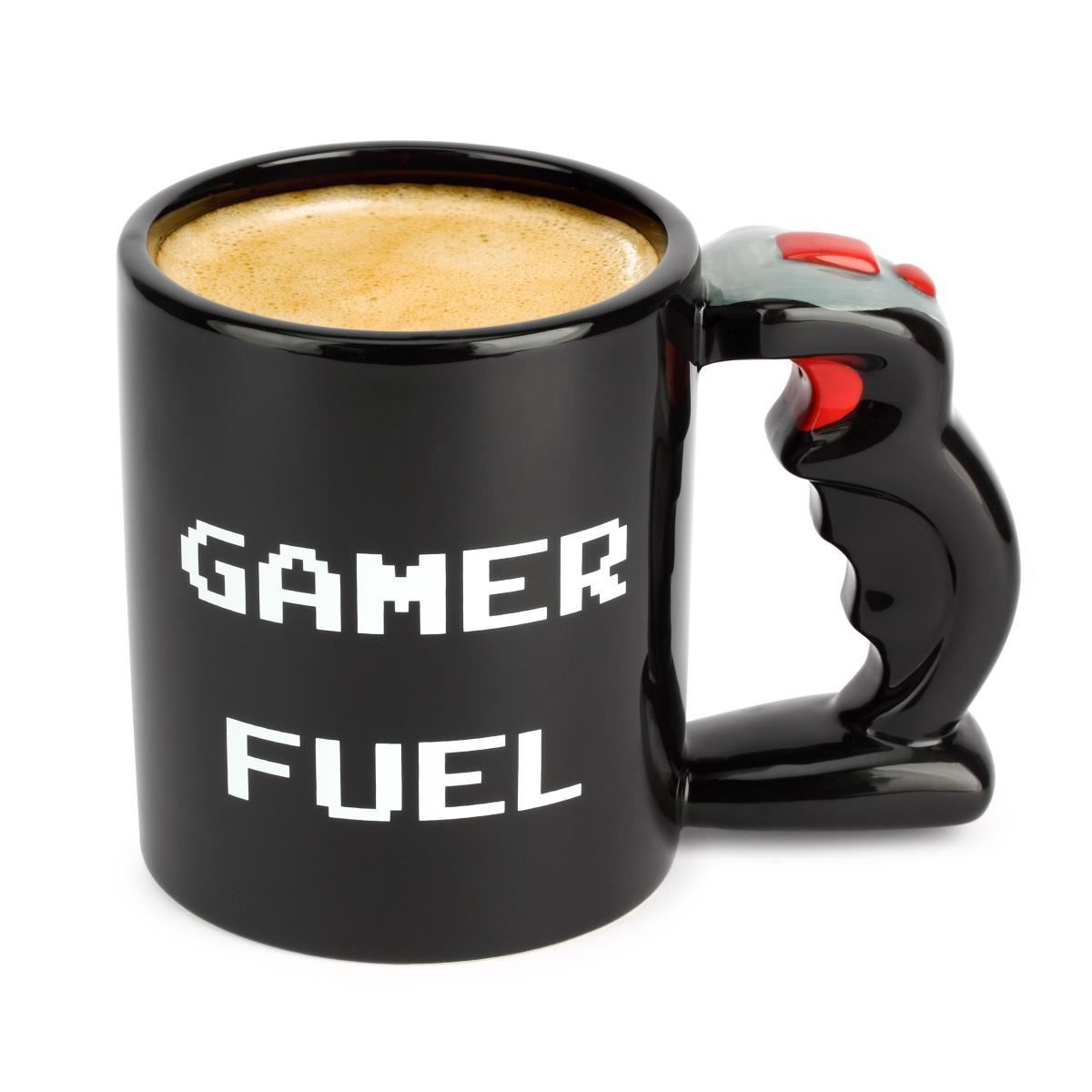 Gamer Fuel Mug Large 650ml Ceramic Tea Coffee Cup Black