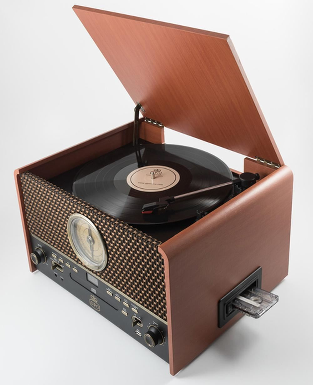 Gpo Chesterton Turntable Rose Wood Retro Vintage Vinyl