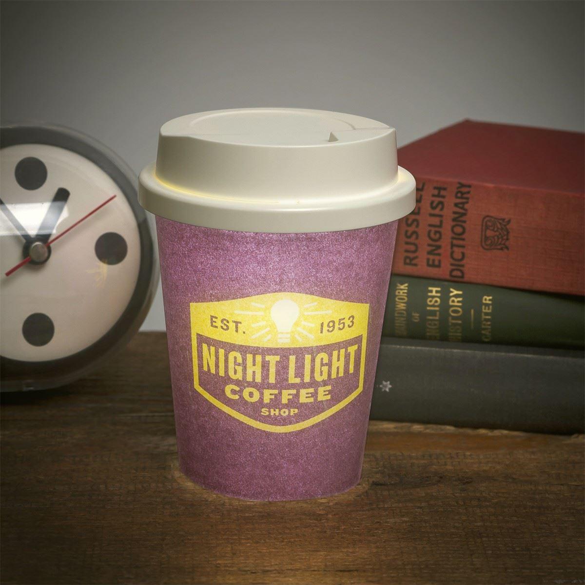 Latte LED Nachtlicht Kaffeetasse Tee Lampe Becher Tisch Schlafzimmer ...
