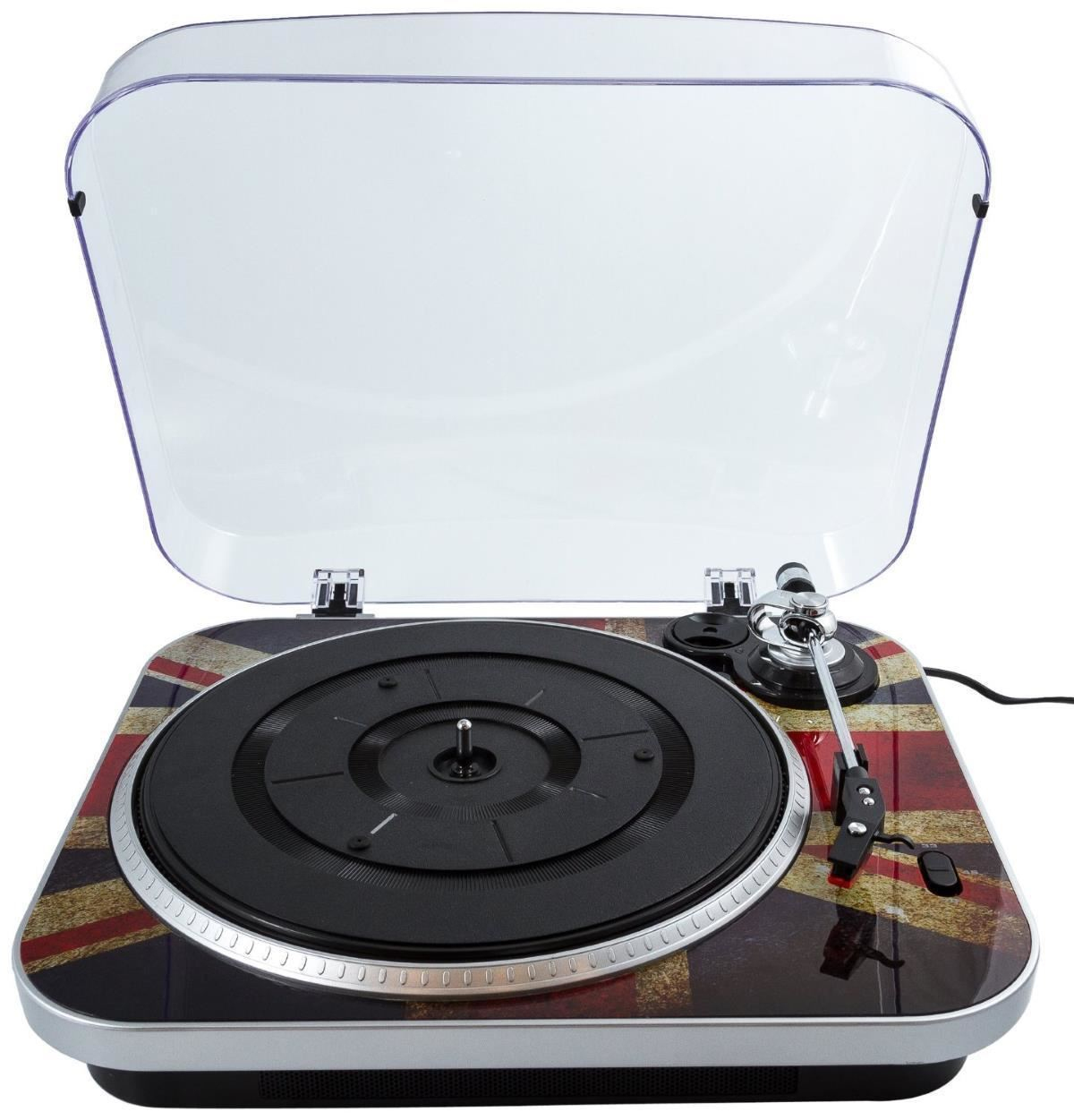 Gpo Jam Union Jack Vinyl Turntable 3 Speed Usb Retro Stand