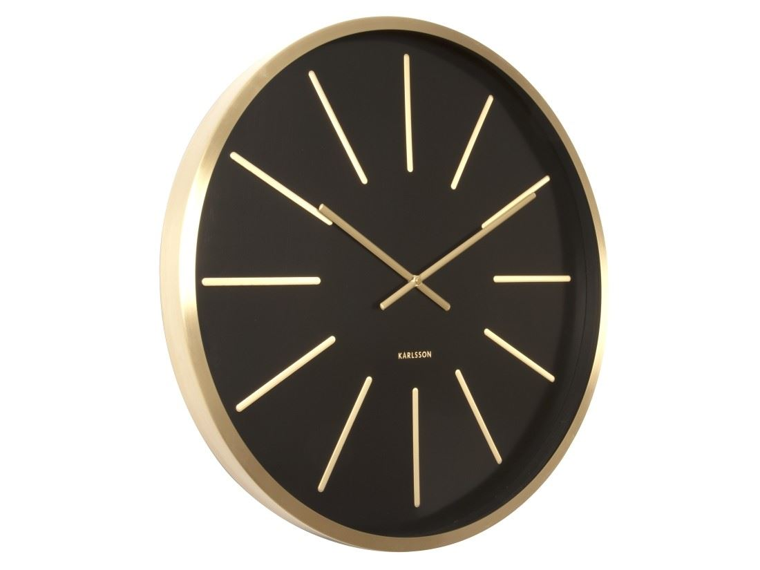 Karlsson Maxiemus Brass Large Living Room Wall Clock