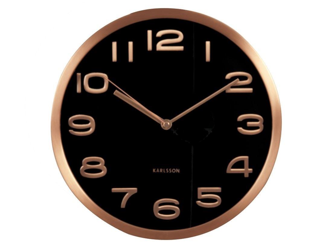 Karlsson maxie horloge murale noir cuivre designer moderne - Horloge murale karlsson ...