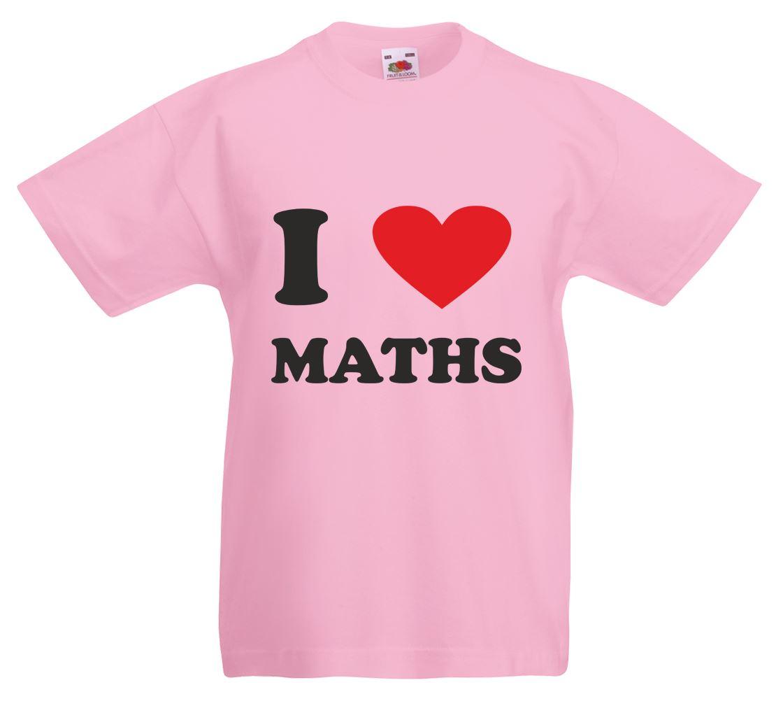 I Love (heart) Maths, Kids Printed T-Shirt   eBay