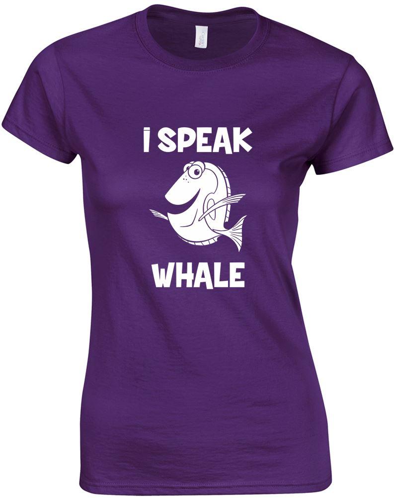 I Speak Whale, Ladies Printed T-Shirt