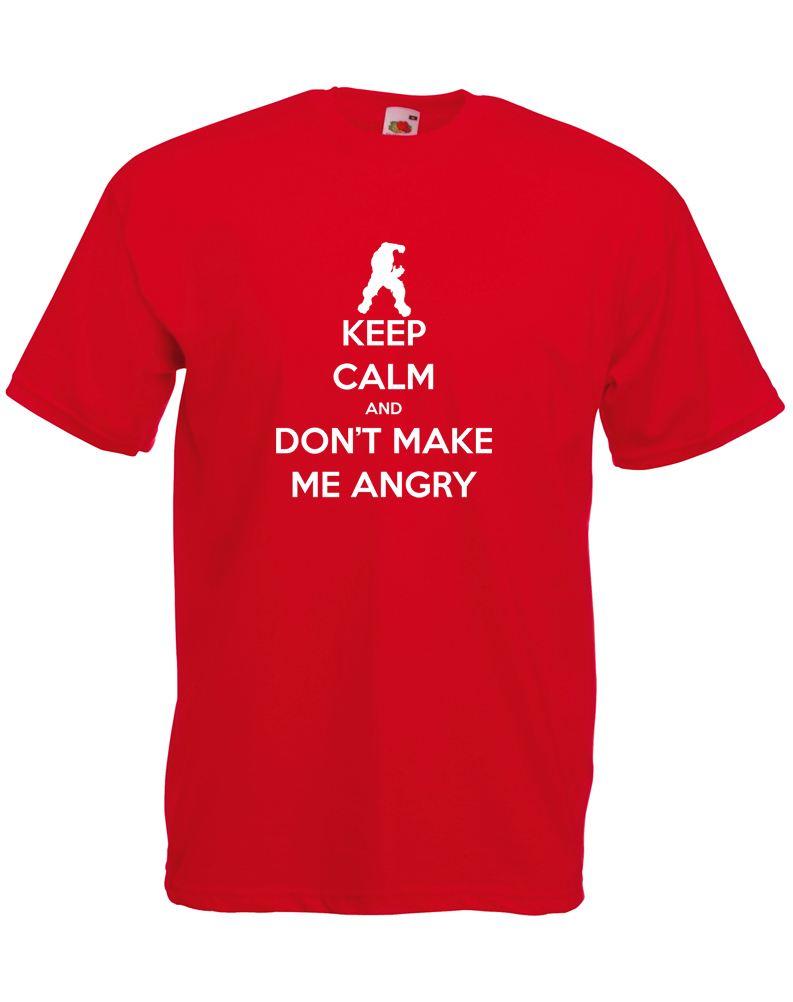 Keep Calm And Don 39 T Make Me Angry Adults Printed T Shirt