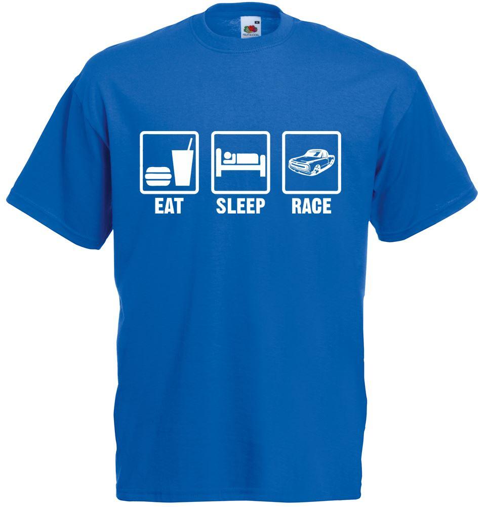 Eat sleep race mens printed t shirt ebay for Marathon t shirt printing