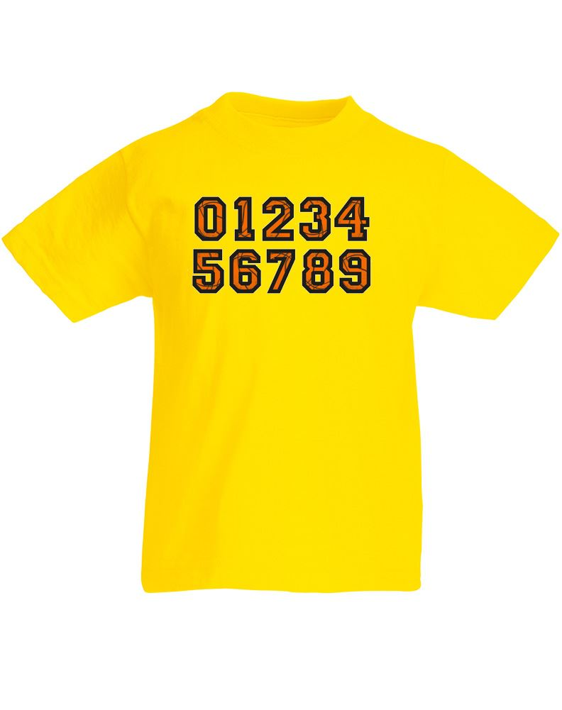 jersey numbers kids printed t shirt ebay