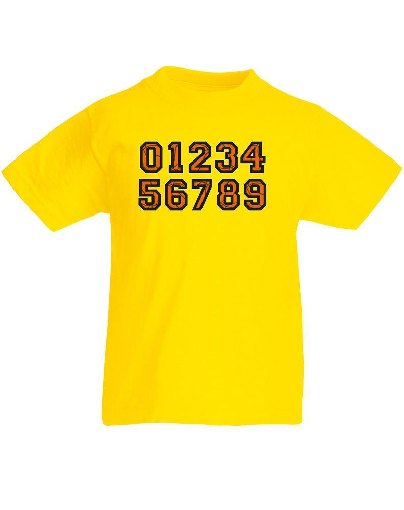 jersey numbers kids printed t shirt ebay