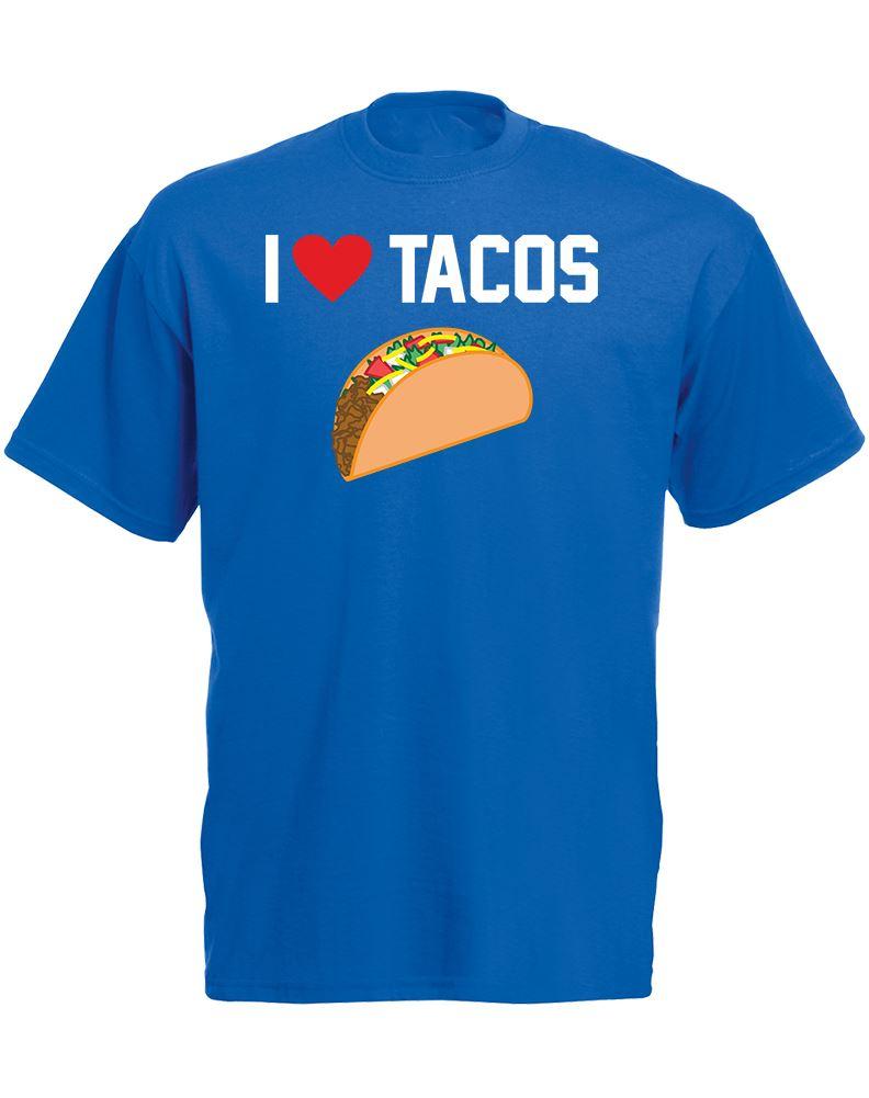 I Love Tacos Mens Printed T Shirt Ebay