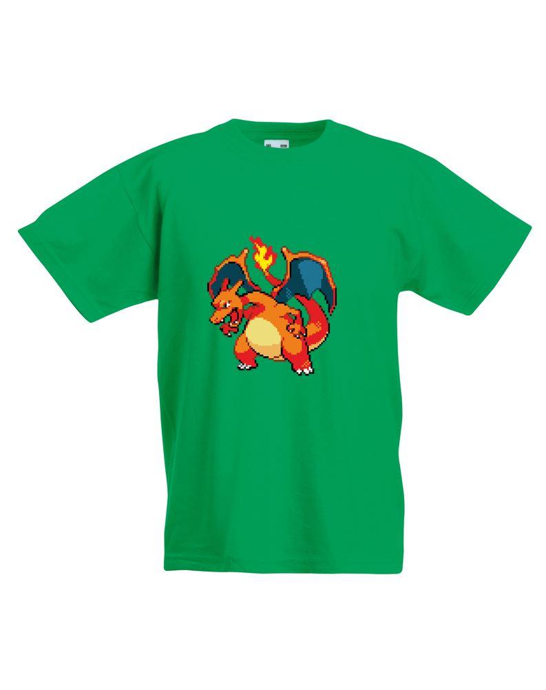8 Bit Charizard Kids Printed T Shirt Ebay