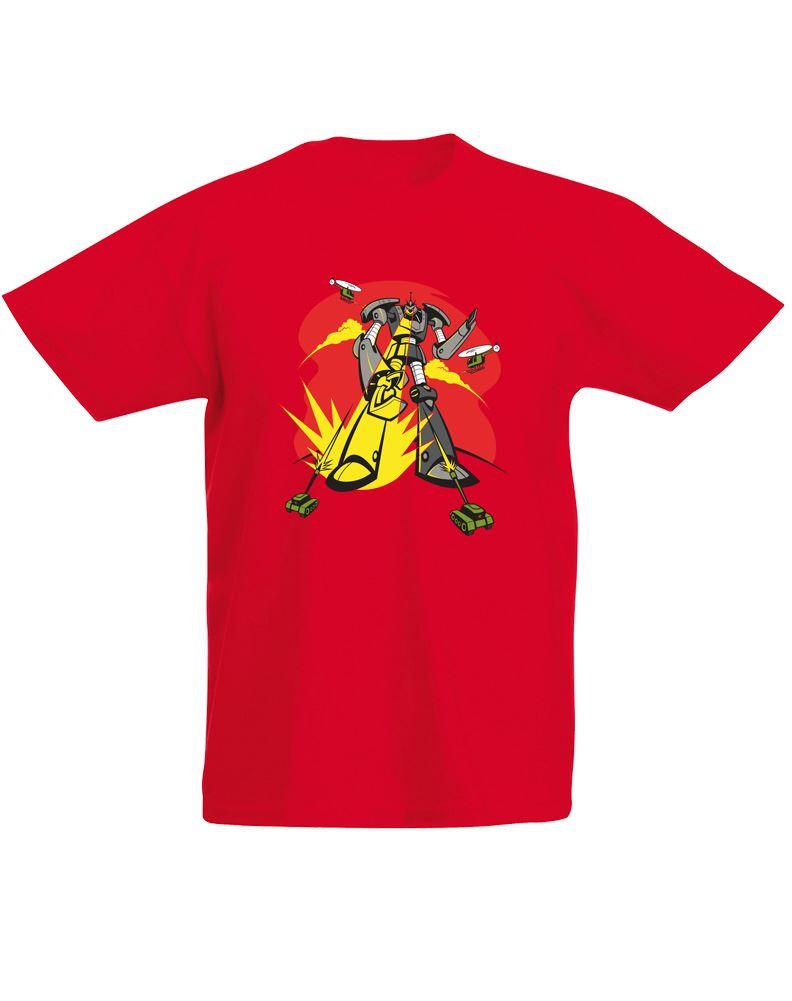 Robot attack kids printed t shirt ebay for Kids t shirt printing