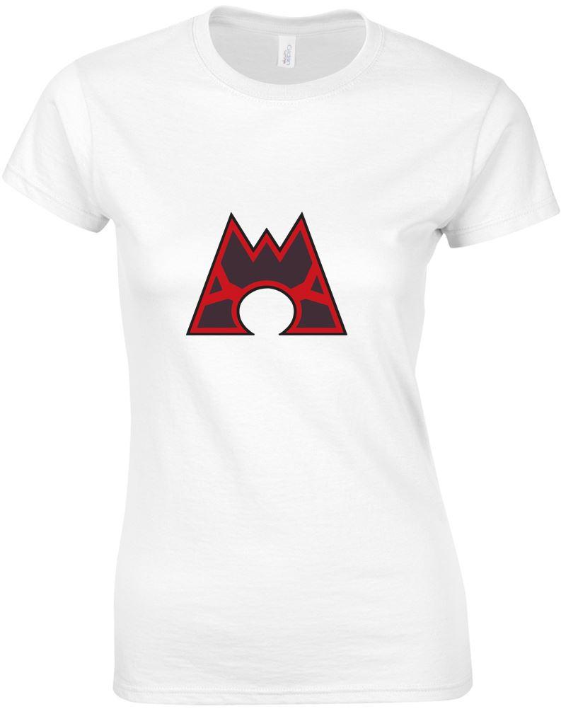 Team magma logo ladies printed t shirt for Team t shirt printing