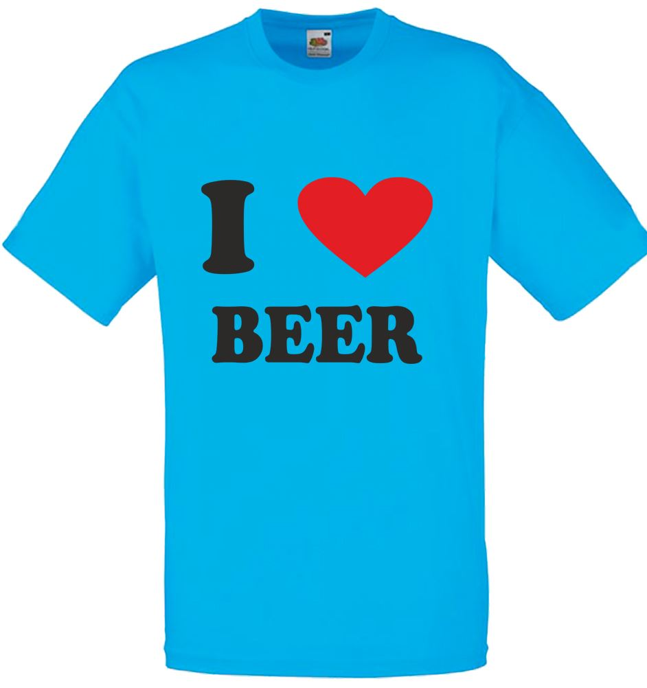 I love heart beer mens printed t shirt for I love beer t shirt