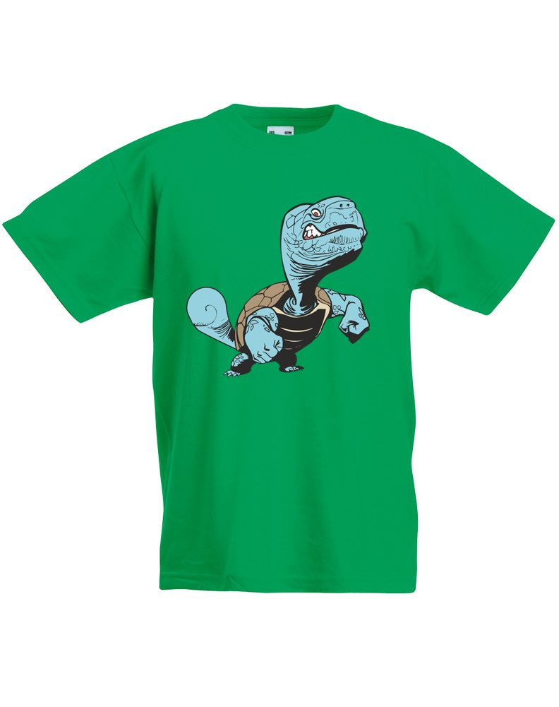 Blue turtle kids printed t shirt ebay for Turtle t shirts online