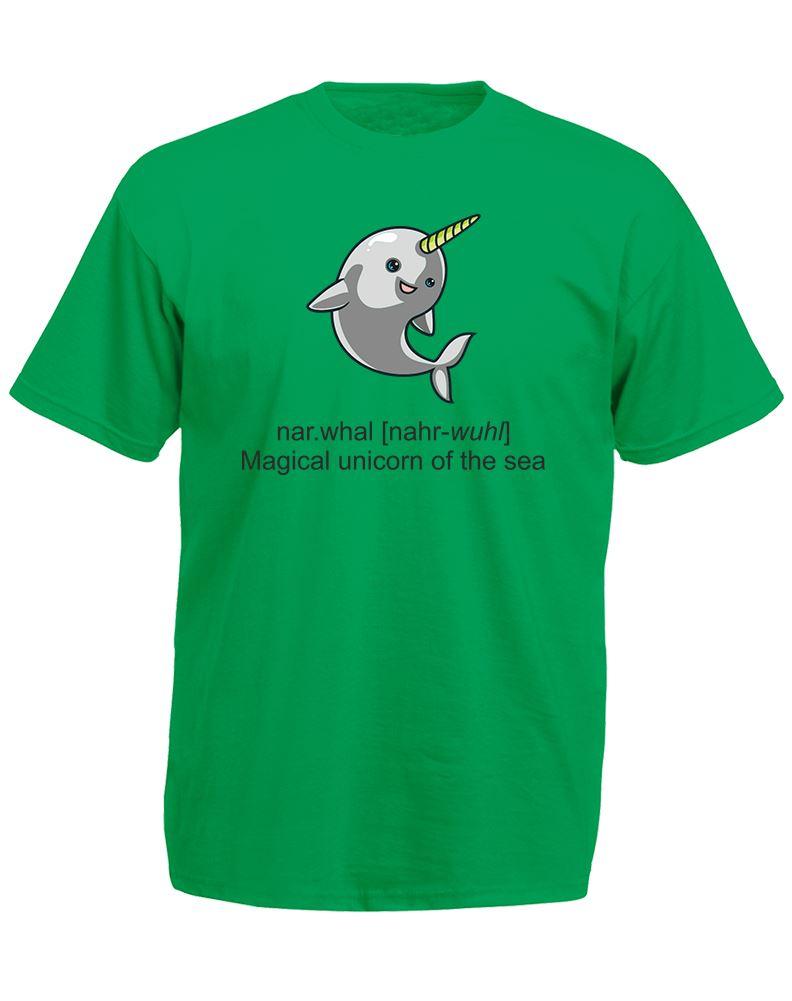 Narwhal mens printed t shirt ebay for Printed t shirts mens fashion