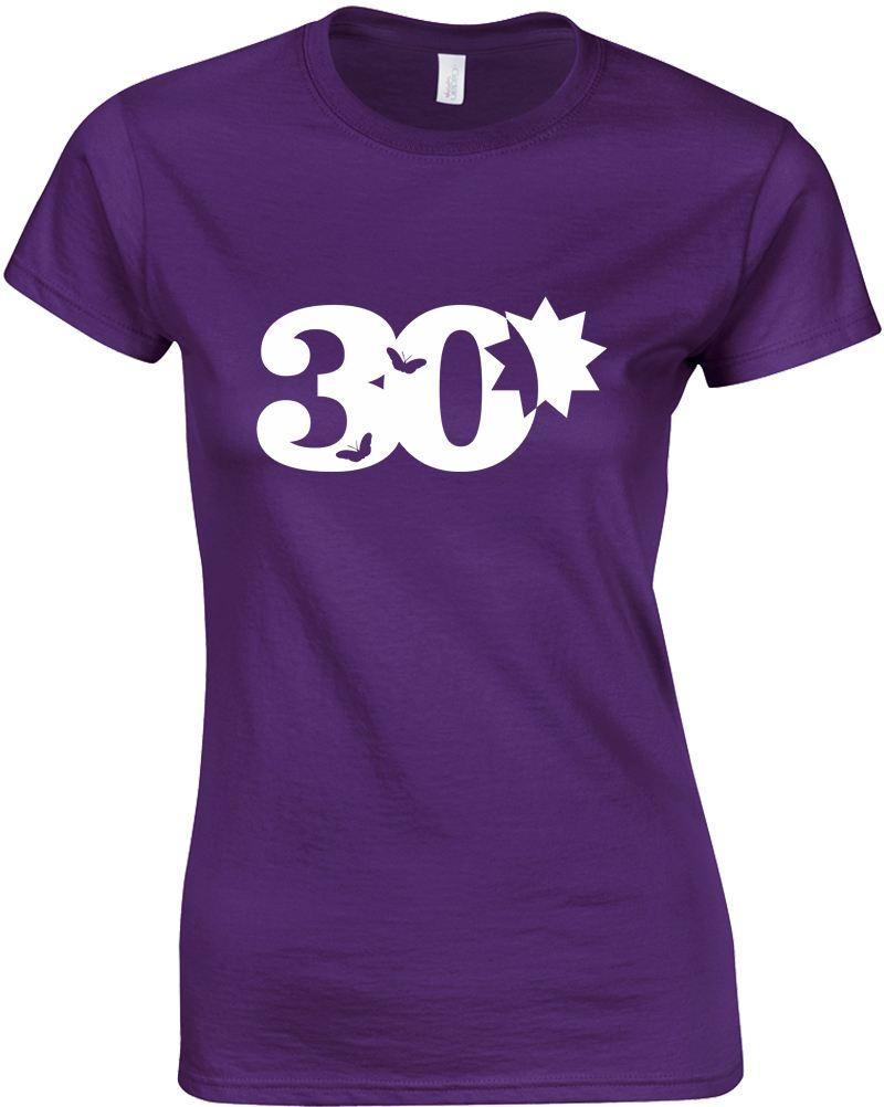Womens 30th Birthday Ladies Printed T-Shirt | EBay