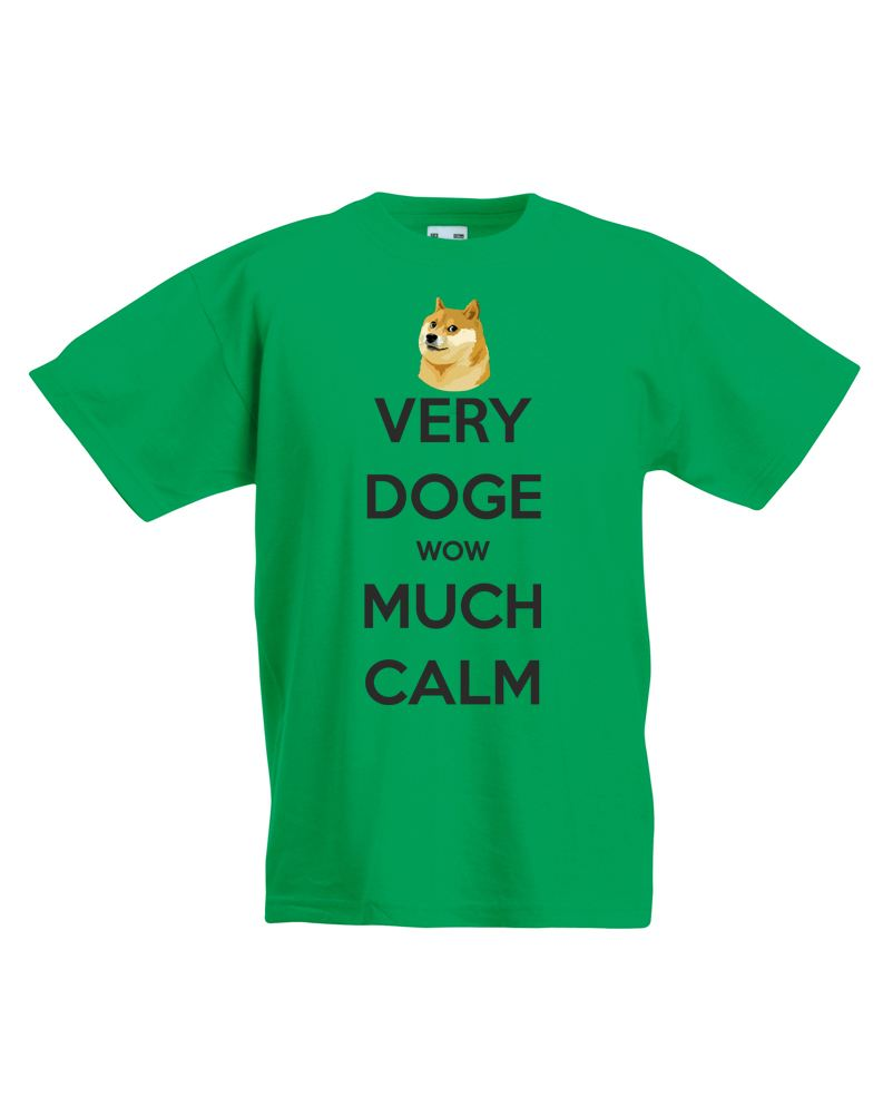 Very doge wow much calm kids printed t shirt ebay for How much is a shirt