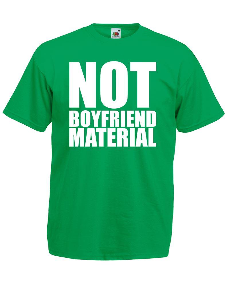 Not boyfriend material mens printed t shirt ebay for Non profit t shirt printing