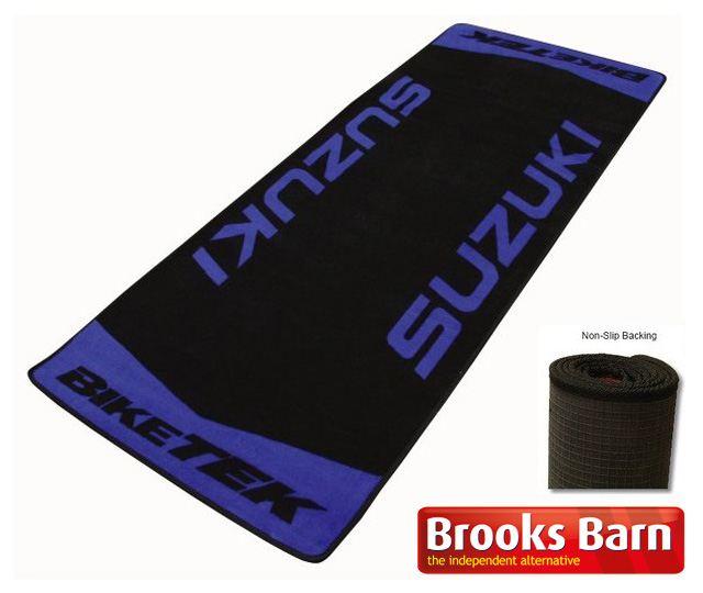 Suzuki-Hayabusa-Garage-Floor-Mat-Rug-Blue-Suzuki-Text