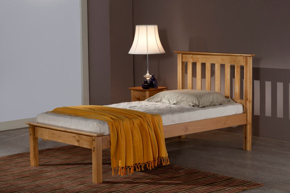 happy beds denver wooden classic bed frame pine ivory