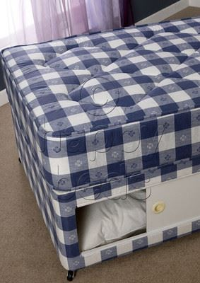 about 3ft single quilted spring mattress blue and white. Black Bedroom Furniture Sets. Home Design Ideas