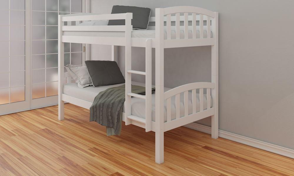 Happy beds american 3ft solid wooden bunk bed frame bedroom home sleep ebay American home furniture bed frames