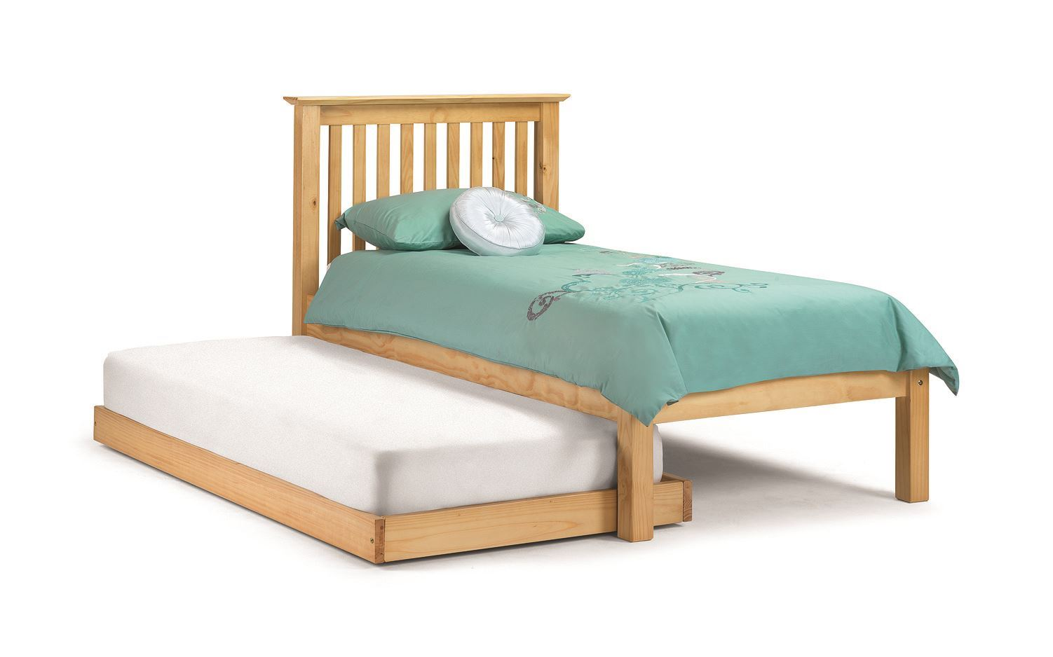 Hideaway Guest Bed Happy Beds Barcelona Hideaway Guest Bed 3ft Single White Pine Wood