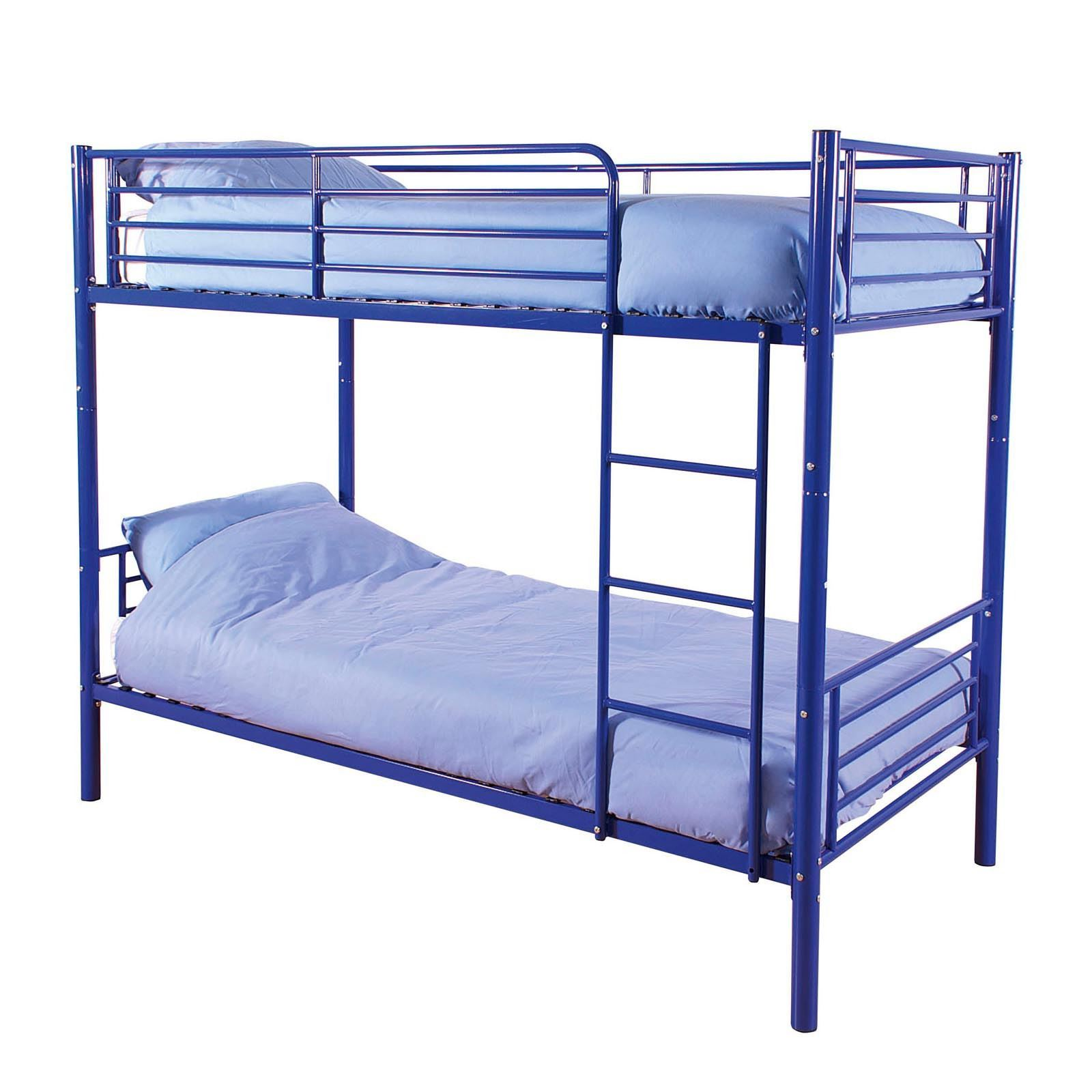 Happy beds cherry quality metal bunk bed 3ft single 2x mattress home furniture ebay Home furniture single bed