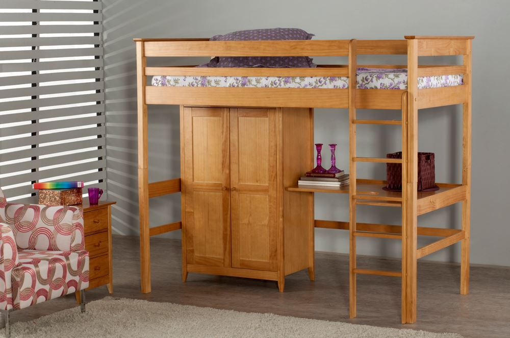 Hy Beds Costwold Traditional Styled Wooden High Sleeper