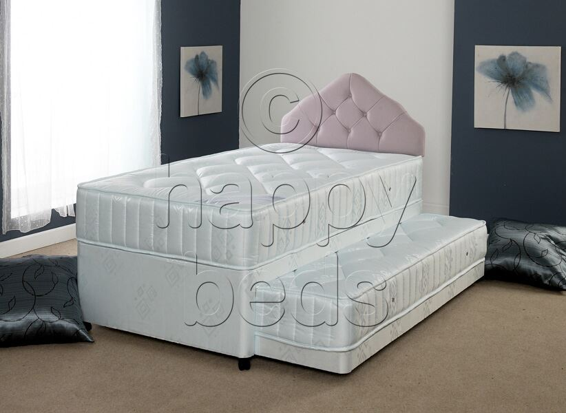 Happy Beds Divan Bed 3ft 4ft6 Headboard Quilted Spring Mattress Drawers Bedroom Ebay