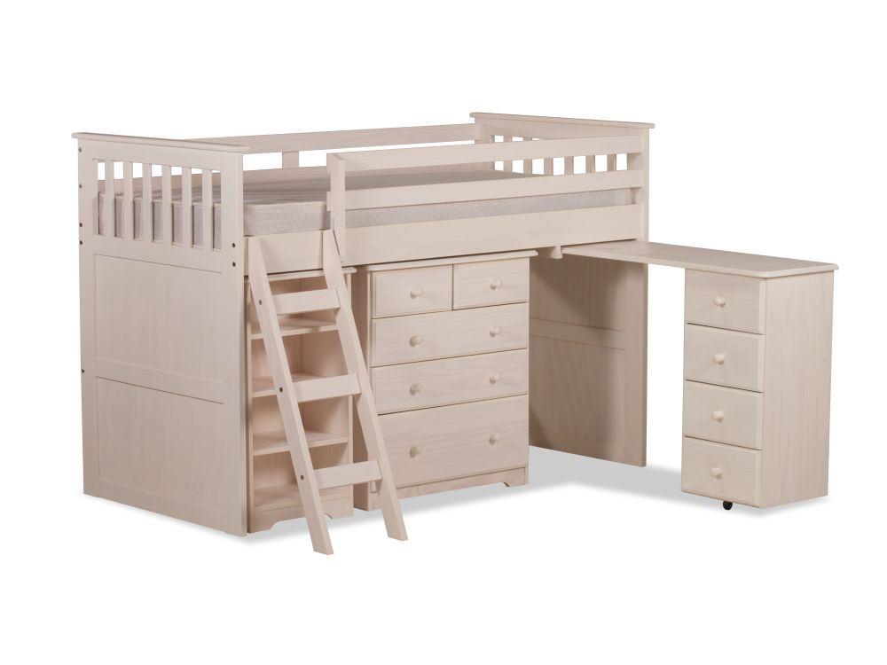 happy beds ultimate mid sleeper wooden storage bed kids. Black Bedroom Furniture Sets. Home Design Ideas