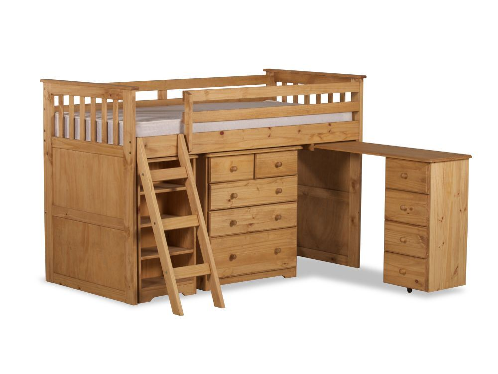 Happy Beds Ultimate Mid-Sleeper Wooden Storage Bed Kids ...