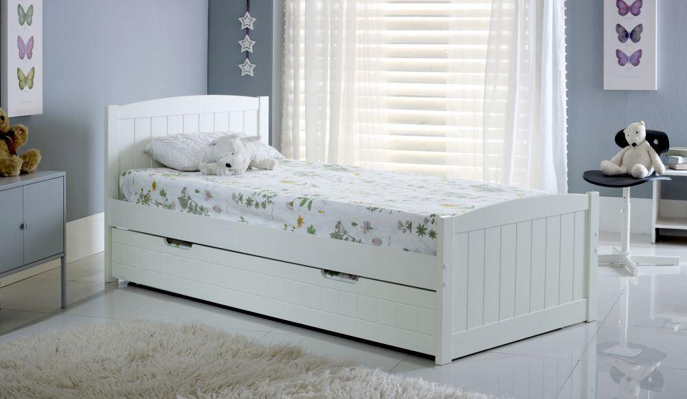 happy beds denver guest bed 3ft wooden trundle modern