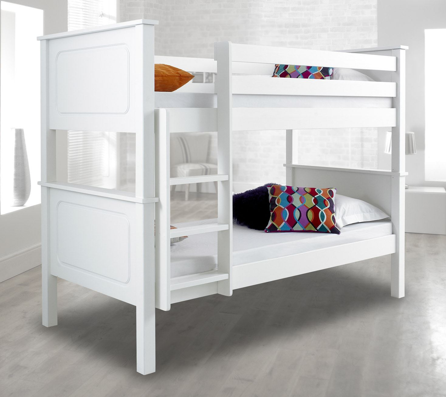 Happy beds vancouver solid wood pine bunk bed 3ft single for Unfinished loft bed