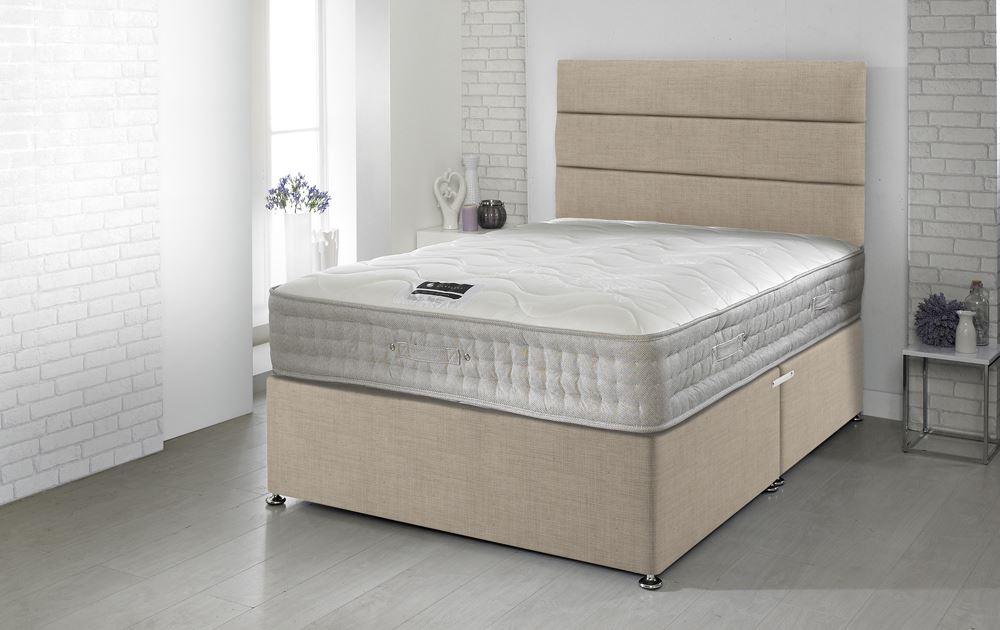 Happy Beds 5ft King Size Divan Bamboo Memory Foam 1500 Pocket Sprung Mattress Ebay