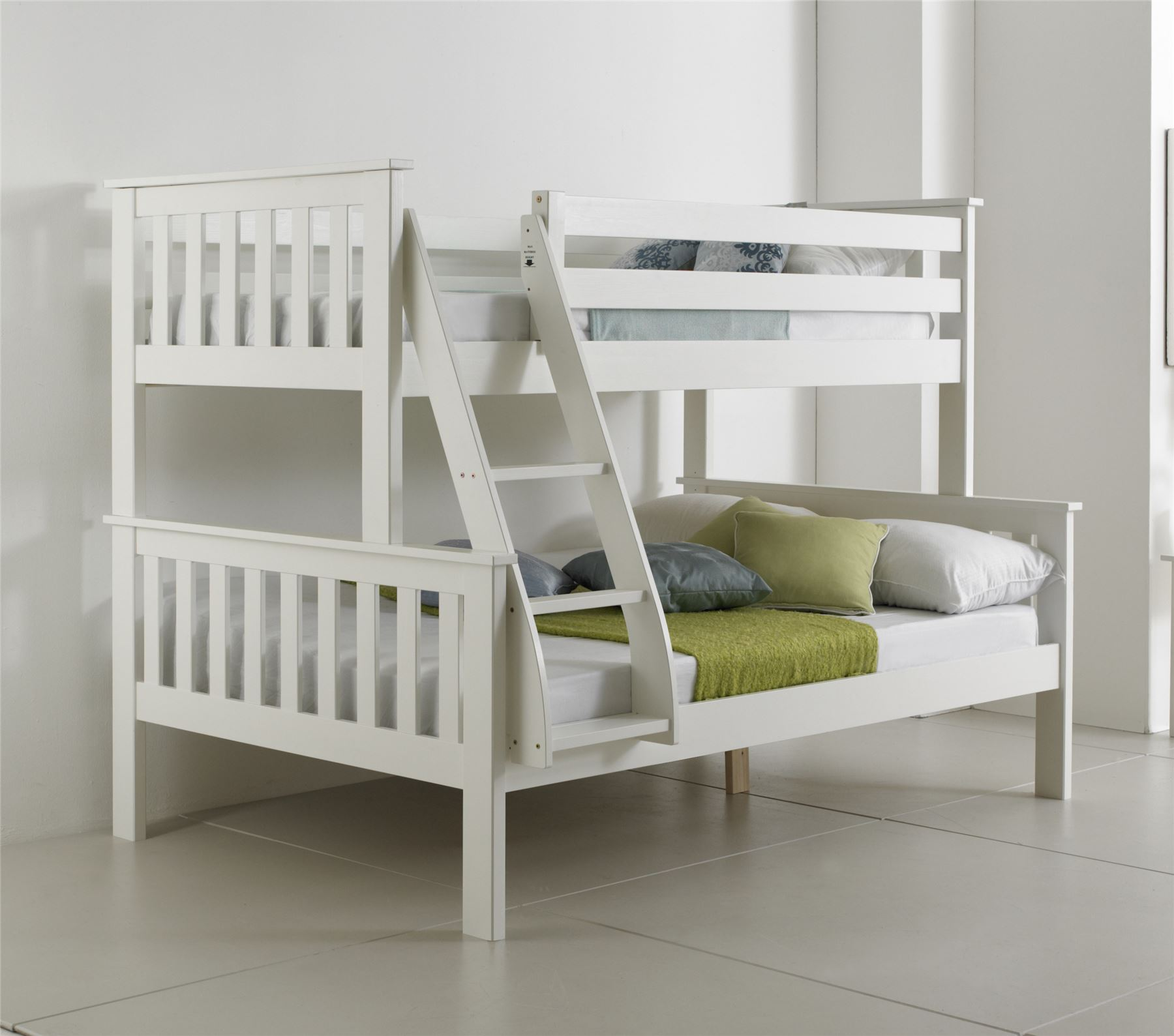 Solid Wood White Bunk Beds