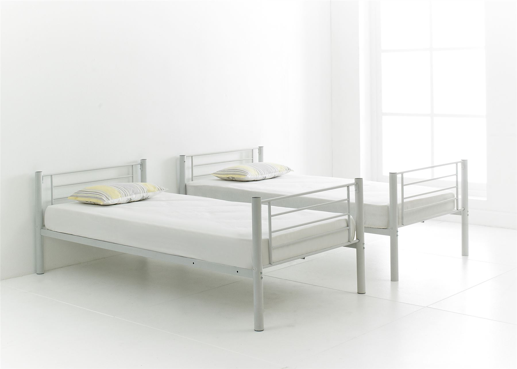 Happy Beds Cherry Quality Metal Bunk Bed 3ft Single 2x Mattress Home Furniture Ebay