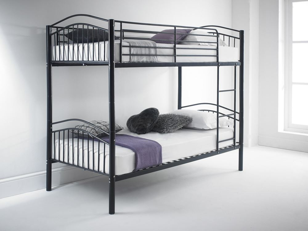 Happy Beds Capri Quality Metal Bunk Bed 3ft Single 2x