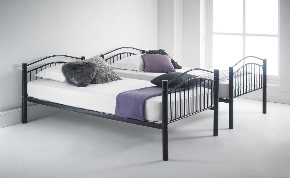 Happy Beds Capri Quality Metal Bunk Bed 3ft Single 2x Mattress Home Furniture Ebay