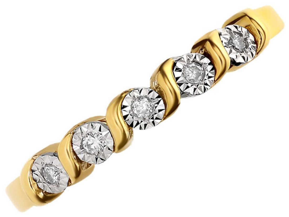 f hinds womens jewellery 9ct yellow gold ribbon